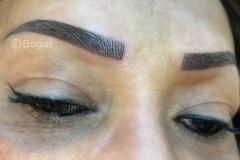 hairstrokes donkere-huid